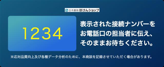 接続ナンバー発行画面